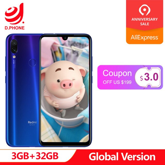 "Global Version 3GB Ram 32GB Rom Xiaomi Redmi Note 7 Octa Core Snapdragon 660 AIE 6.3"" Full Screen 48MP Rear Camera Cellphone"