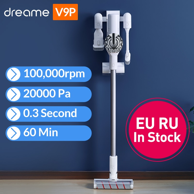 Dreame V9 Handheld Cordless Vacuum Cleaner Protable Wireless Cyclone Filter 115AW Strong Suction Carpet Dust Collector for Home