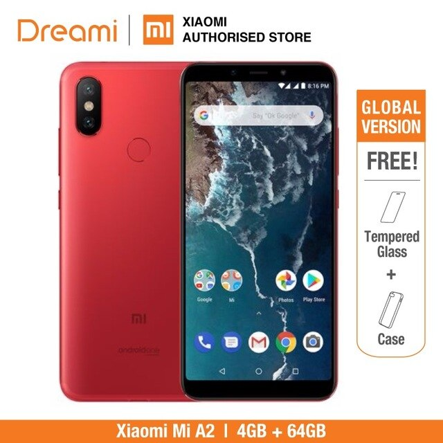 Global Version Xiaomi Mi A2 64GB ROM 4GB RAM (Brand New and Sealed) MI A2 RED Limited edition