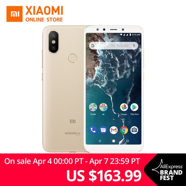 "Global Version Xiaomi Mi A2 Snapdragon 660 Octa Core 4GB 64GB 5.99"" 18:9 Full Screen 20MP Front Camera Smartphone Android One"