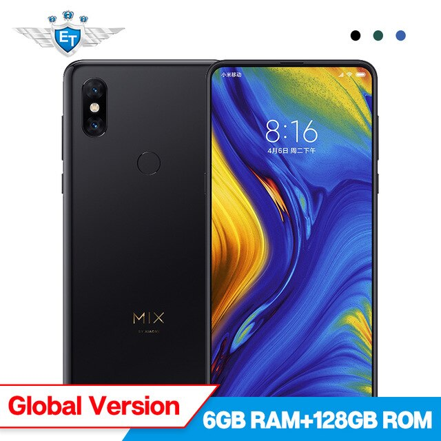 Global Version Xiaomi Mi Mix 3 6GB 128GB 6.39'' AMOLED Snapdragon 845 Mobile Phone 2 Front & 2 Back Camera Wireless Charging NFC