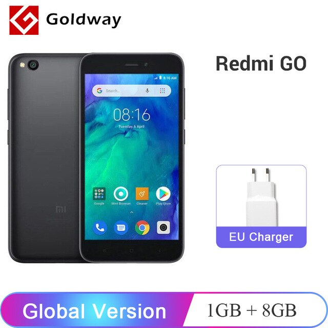 "Global Version Xiaomi Redmi GO Smartphone 1GB RAM 8GB ROM Snapdragon 425 Quad Core 3000mAh Battery 5.0"" 4G FDD LTE 8.0MP Camera"