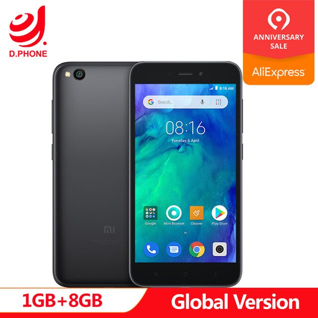 "In Stock Global Version Xiaomi Redmi GO 1GB RAM 8GB ROM Snapdragon 425 Quad Core 5.0"" 4G LTE 8.0MP Camera 3000mAh Battery Phone"
