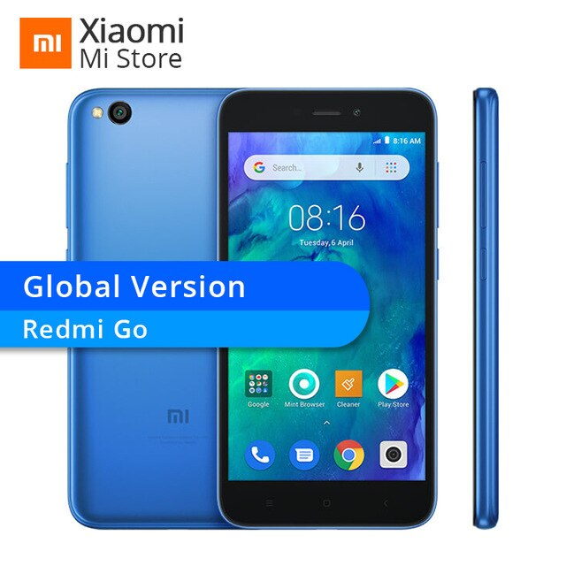 "In Stocks ! Global Version Xiaomi Redmi Go 1GB RAM 8GB ROM Snapdragon 425 Quad Core 5.0"" 4G LTE 8MP Camera 3000mAh Smartphone"