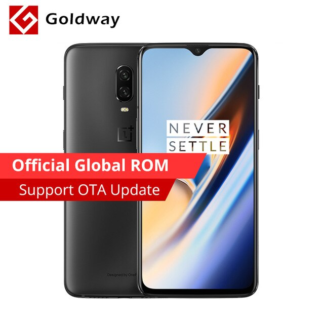 "Oneplus 6T 6 T 6GB 128GB Snapdragon 845 Octa Core Mobile Phone 20MP Camera NFC Fingerprint 6.41"" Full Screen 19.5:9 Smartphone"