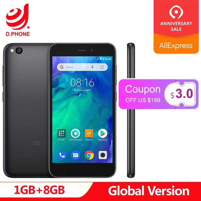 "Original Global Version Xiaomi Redmi GO 1GB 8GB Phone Snapdragon 425 Quad Core 5.0"" 5MP+8MP Camera 3000mAh Battery Smartphone"