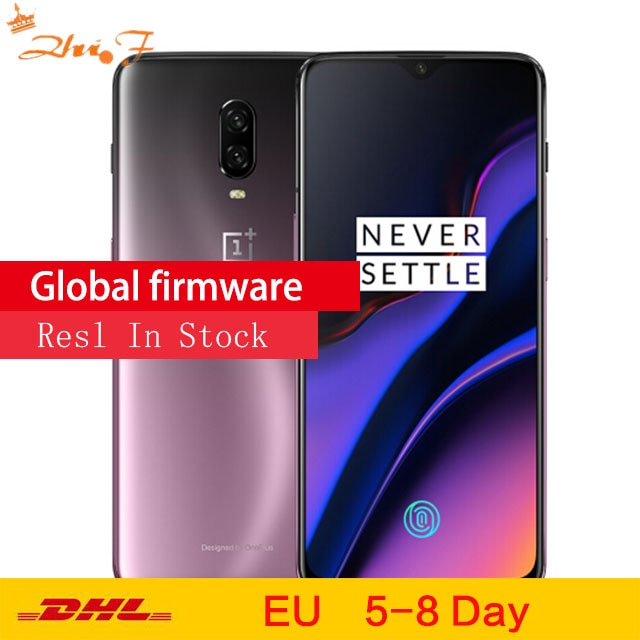 "Original Oneplus 6T Mobile Phone 6/8GB RAM 128/256GB ROM Snapdragon 845 Octa Core 6.41"" Dual Camera Screen Unlock NFC Cellphone"